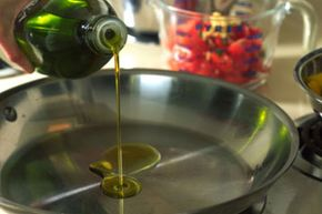 Cooking otherwise healthy olive oil above its smoke point can create trans fats.