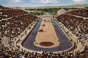 The Olympic stadium in Athens that was the scene of the 1896 games.