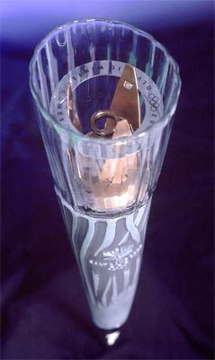 Top view of 2002 Salt Lake City torch