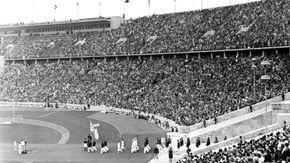parade of nations, 1936 Olympics