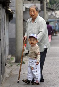 China may face problems as a smaller workforce made of singleton children is forced to support a large, aging population.