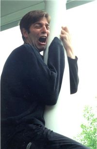 Charles Ross as Luke Skywalker after losing his arm in Cloud City.