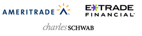 E*Trade, Ameritrade and Charles Schwab are three of the many online brokerages.