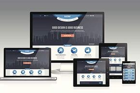 Responsive design ensures that a website looks good whether viewed on a laptop, tablet or smartphone.