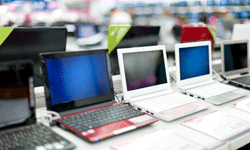 If you buy a laptop on layaway, it costs what it costs -- no credit card interest rates.