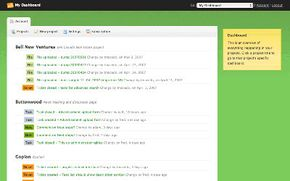 A screenshot of Goplan's project management application.