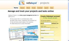 The WebAsyst project management service offers free accounts.