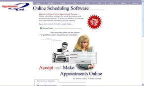 Appointment Quest is just one of dozens of online scheduling programs available on the Web.
