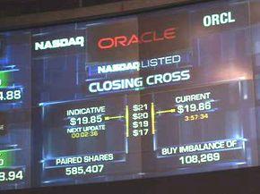 The NASDAQ closing cross