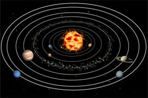 That picture makes the planet's orbits seem so tidy -- and fixed. Could chaos theory mess with that clockwork precision?