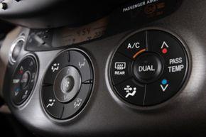 An A/C control panel