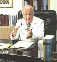The late Dr. Atkins in his office at The Atkins Center for Complementary Medicine.