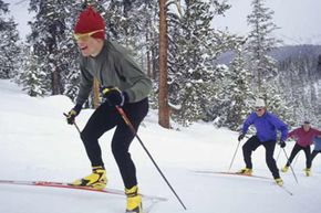 Cross-country skiing is an example of a challenging endurance sport.