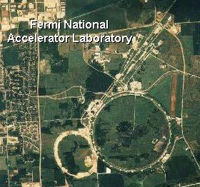 Aerial view of the Fermi National Accelerator Laboratory (Fermilab)