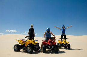 You can speed around on your ATV once you hit the desert, but when it's on the trailer you need to keep it slow.
