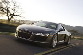 The R8 comes standard with Audi's famous Quattro all-wheel drive system.