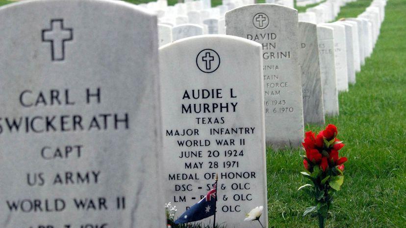 Audie Murphy headstone