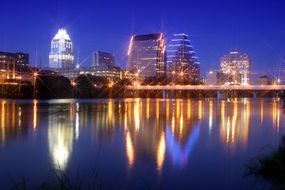 The rivers and lakes surrounding Austin enhance its natural beauty.