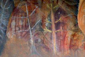 This aboriginal rock art is really old -- just like Australian culture.