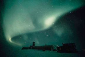 Not many get a chance to see the aurora australis from Antarctica: This is the view from the British Antarctic Survey base.