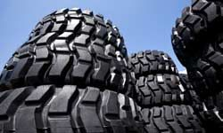 Tires, in addition to several other car parts, are made from rubber.