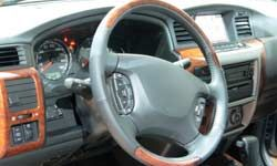 Many parts of the dashboard, including gauges and dials, are created from plastic.