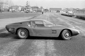 The new Iso Grifo A3 during testing at the Modena Aerautodromo, 1964.