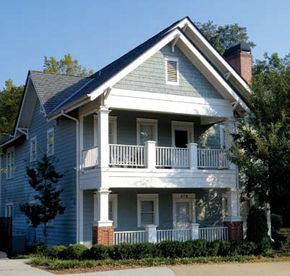 This 5,000 square foot home houses the Aware Home Research Initiative. It contains two identical simulation apartments, one on the top floor and one on the ground floor, along with additional research space in the basement.