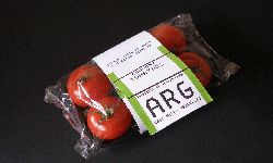 """One of James Reynolds' """"FarFoods"""" produce labels."""