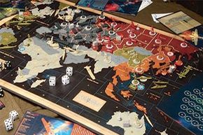 These miniatures from the Europe 1940 version of Axis & Allies shows the many different unit types available, as well as the differences between units from Germany and Britain.
