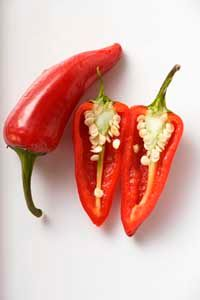 Capsicum peppers get their heat from a chemical called capsaicin.
