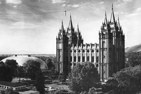 LDS Mormons, like those who meet and worship at the Salt Lake City temple and tabernacle, don't engage in plural marriage at all.