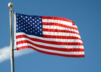 The ACLU defended one group's right to pledge to the red flag and another's right not to pledge to the U.S. flag.