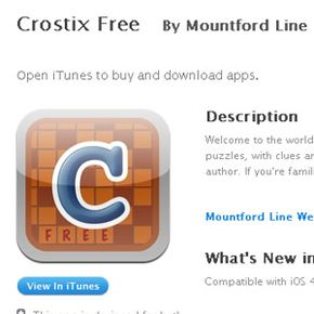 You don't need a pencil, or even a computer, to play acrostics. If you have an iPhone or an iPad, you can download the Crostix app and play these puzzles anywhere you go.