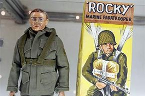 The prototype for the G.I. Joe action figure, 'Rocky the Paratrooper,' was displayed at the 2003 Hasbro International G.I. Joe Collectors' Convention. It sold for $200,000 at auction.