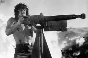 Technically that photo is from the third Rambo, but you get the idea.