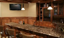 You could transform an empty basement into a media room or a bar room.
