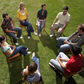 Group therapy is one type of mental health therapy