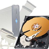An additional hard drive provides more disk space on your computer. See more computer hardware pictures.