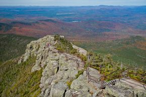 A view of Whiteface Mountain in the fall.