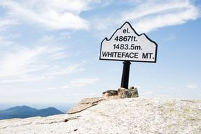 The summit of Whiteface Mountain in the Adirondack Mountains.