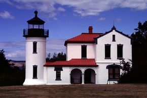 The striking architectural design makes the Admiralty Head lighthouse one of the most beautiful in the Pacific Northwest. See more lighthouse pictures.