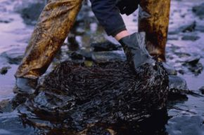 Oleophilic (oil-attracting) adsorbents are used for cleaning up oil spills.