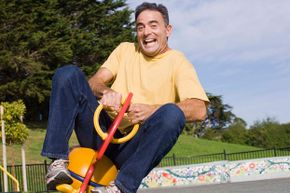 Don't worry -- playgrounds designed for adults are fun and focused on fitness. You won't have to use kid-size equipment.
