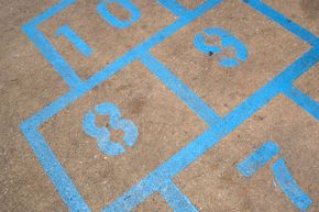 You can create your own hopscotch grid with chalk, but dedicated, painted hopscotch areas make it easy to jump right into exercise.