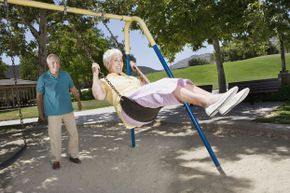 Swinging: just as fun now as it was when you were a kid.