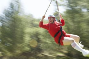 Even if you're screaming in fear on a zip line, you're still getting a great core workout -- and all that yelling might improve your lung capacity.