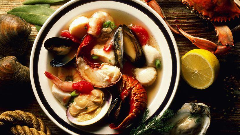 seafood stew, shellfish