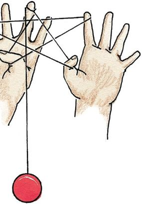 Open both hands to unfold the star shape.