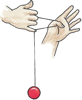 Catch the string with your yo-yo hand's pinky finger.